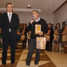 Antonio Almécija dijo unas palabras de agradeciendo al recibir el Reconocimiento ASPAPROS