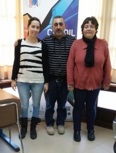 Pilar Martín, Antonio Almécija y Rosa María Carro