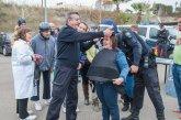 Visita de la policía nacional a ASPAPROS