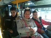 Subidos en el autobus