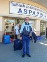 Andrés feliz por irse unos días de vacaciones