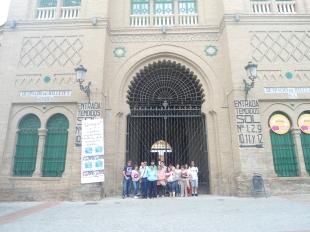 En la plaza de toros de Granada