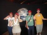 Visitando el planetarium
