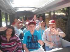 Subidos en el tren turistico