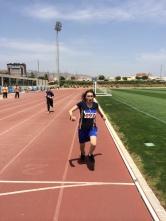 Pepa consiguiendo su medalla de oro