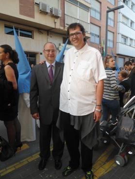 Javi Pérez con el alcalde de Almería.