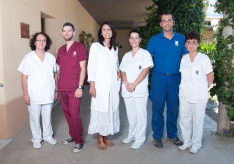 De izquierda a derecha: Manuela Sánchez, Javier Galdeano, Ana Ramírez, José Ángel Expósito y Encarnación Rodríguez.