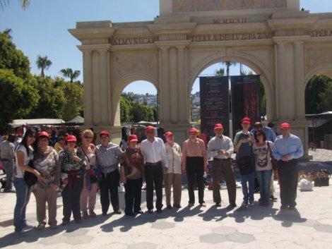 Grupo de clientes de ASPAPROS que viajaron a Almuñecar