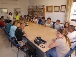 Grupo de Viator y Huércal juntos preparando el encuentro