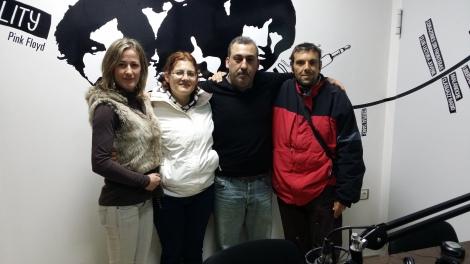 Raquel, Tamara, Antonio e Iván