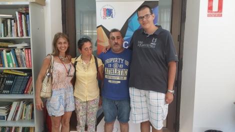 Clara, Rosa, Antonio y Javi  en el estudio de Candil Radio